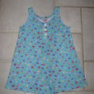 ZOEY GIRL'S SIZE 4 (S) AQUA FLORAL PRINT SHORT OUTFIT SLEEVELESS ROMPER NEW WITH TAG