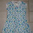 PAPERMOON GIRL'S SIZE 4 (S) AQUA FLORAL PRINT SHORT OUTFIT CAP SLEEVE ROMPER NEW WITH TAG