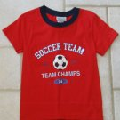 ATHLETIC WORKS GIRLS SIZE 4/5 T-SHIRT RED, WHITE, & BLUE NEW WITH TAG PATRIOTIC SOCCER TEAM