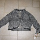 NICOLA WOMEN'S SIZE M BLACK & WHITE PRINT SHEER JACKET OFFICE CAREER NEW W/ TAG