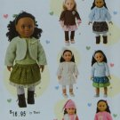 "SIMPLICITY 1515 AMERICAN GIRL1 8"" Doll CLOTHES SEWING PATTERN NEW"
