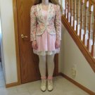 NAH NAH COLLECTIONS WOMEN'S SIZE 8 BLAZER & IVORY DRESS WEDDING MOTHER OF BRIDE GROOM MADE IN USA