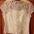 Talbots Silk Sheer Ivory Top and Cami