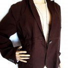 CAbi WOMEN'S SIZE 4 SUIT JACKET BROWN  OFFICE CAREER BLAZER LONG SLEEVE