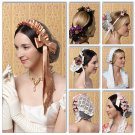 BUTTERICK B 5663 HISTORICAL CIVIL WAR HAIR PIECES 6 HEAD PIECES NEW UNCUT MINT