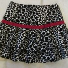 BONNIE JEAN GIRL'S SIZE 4 SKIRT BLACK & WHITE LEOPARD RED BOW PLEATED CHRISTMAS HOLIDAY CHURCH