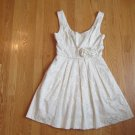 SPEECHLESS WOMEN'S JUNIOR'S SIZE 3 DRESS IVORY FORMAL PROM BROCADE EASTER PARTY