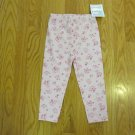 TKS BASICS GIRL'S SIZE 2 T CLASSIC LEGGING PINK FLORAL PRINT NEW WITH TAG