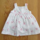 CARTER'S GIRL'S SIZE 6 mo. DRESS & PANTIES WHITE W/ PINK FLORAL PRINT SPRING EASTER SUN