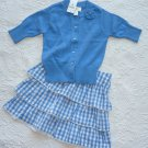 THE CHILDREN'S PLACE GIRL'S SZ 24 mo. SWEATER & 18 mo. SKIRT SET BLUE & WHITE WEDDING, CHURCH EASTER