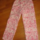 CHRISTOPHER & BANKS WOMEN'S SIZE 12 CAPRIS PINK & WHITE FLORAL PRINT CROPPED PANTS