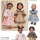 "SIMPLICITY 1391 AMERICAN GIRL 18"" DOLL CLOTHES PATTERN CIVIL WAR DRESSES NEW ADDY CECILE"