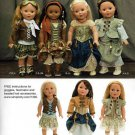 "SIMPLICITY 1392 AMERICAN GIRL 18"" DOLL CLOTHES PATTERN DRESS NEW FELICITY ELIZABETH PIRATE"