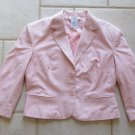 GEORGE WOMEN'S SIZE 4 PINK JACKET LINEN BLAZER 3/4 SLEEVE EASTER SPRING OFFICE CAREER