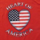 GILDAN GIRL'S SIZE L T-SHIRT RED TOP US FLAG JULY 4TH INDEPENDENCE DAY PATRIOTIC