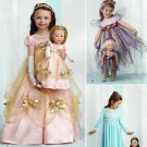 "SIMPLICITY 1305 AMERICAN GIRL 18"" DOLL CLOTHES & GIRL'S SIZE 3-8 DRESS, FAIRY PATTERN  NEW"