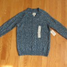 ST. JOHN'S BAY WOMEN'S SIZE P M SWEATER TEAL SAXONY BLUE MARBLED V NECK LONG RAGLAN SLEEVE NWT