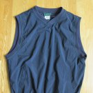 OUTER BANKS MEN'S SIZE S POLO TOP NAVY BLUE JERSEY SHIRT SLEEVELESS V NECK NWT