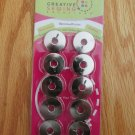 CREATIVE SEWING SOLUTIONS 10 METAL REPLACEMENT BOBBINS 4 BERNINA / RICCAR ROTARY MODELS NEW