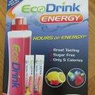 ECODRINK ENERGY MIX 30 PACKETS & REUSABLE BPA FREE BOTTLE B 6, B 12, + CAFFEINE NEW