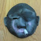 FACE MASK BALD SMOKING EYE PATCH BEARD STUBBLE CIGARETTE SMOKING UGLY SCARY NEW