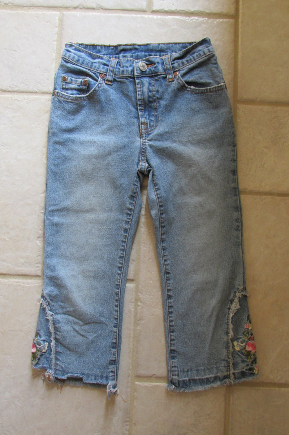 Lucky brand girl s size capris denim cropped blue jeans