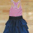 MILEY CYRUS MAX AZRIA WOMEN'S SIZE S JUNIOR'S SIZE 7 DRESS RED, WHITE & BLUE DENIM PATRIOTIC