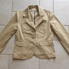 TALBOTS WOMEN'S SIZE 6 SUIT TAN BEIGE COUNTRY CASUAL BLAZER