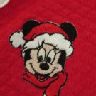 DISNEY BABIES GIRL'S SIZE 0 - 3 mo. SLEEPER RED MINNIE MOUSE PJs CHRISTMAS HOLIDAY PARTY