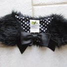 CRAZY 8 WOMEN'S GIRL'S ONE SIZE FAUX FUR COLLAR BLACK CHRISTMAS HOLIDAY PARTY