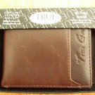 TRUE GEAR WALLET GENUINE LEATHER BROWN BI-FOLD NEW IN PACKAGE