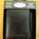 TRUE GEAR WALLET GENUINE LEATHER BLACK TRI-FOLD NEW IN PACKAGE