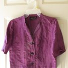 JONES NEW YORK WOMEN'S SIZE 4P SUIT JACKET PURPLE OFFICE CAREER TAILORED BLAZER HOLIDAY PARTY SS