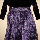 RARE EDITIONS GIRL'S SIZE 12 DRESS PURPLE & FLORAL CHRISTMAS HOLIDAY PARTY SUGAR PLUM FAIRY