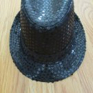 BLACK SEQUIN FEDORA HAT GIRL'S SIZE   GANGSTA TRILBY CUBAN NWOT BOY'S UNISEX