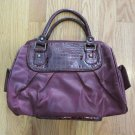 WOMEN'S HAND BAG BURGUNDY MEDIUM SIZE SATCHEL PURSE