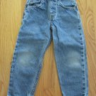 LEVI'S 550 BOY'S SIZE 5 SLIM JEANS RELAXED FIT MED BLUE STONE WASHED TAPERED LEG VINTAGE ORANGE TAB