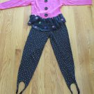 HART STREET GIRL'S SIZE 12 TOP & STIRRUP PANTS VINTAGE '80's DOTS COSTUME 2 PIECE SET