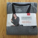 CUDDLDUDS CLIMATE RIGHT WOMEN'S SIZE S (6 - 8) FLEECE TOP GRAY STRETCH SLEEP LOUNGE NEW