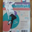 BLUE STAR WOMEN'S JUNIOR'S SIZE L / XL LEGGINGS BLACK FLEECE LINED ANKEL LENGTH LEGWEAR NIP
