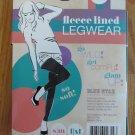 BLUE STAR WOMEN'S JUNIOR'S SIZE L / XL LEGGINGS BLACK FLEECE LINED ANKEL LENGTH LEGWEAR NIP