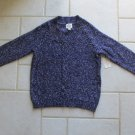 ST. JOHN'S BAY WOMEN'S SIZE P M SWEATER POSH PURPLE MARBLED V NECK CABLE LONG RAGLAN SLEEVE NWT