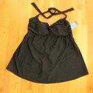 TROPICAL ESCAPE WOMEN'S PLUS SIZE 18 W SWIM DRESS SUIT BLACK PADDED HALTER NEW W/ TAG