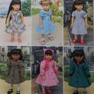 "SIMPLICITY 8071 AMERICAN GIRL 18"" DOLL CLOTHES PATTERN SHIRTWAIST DRESS & COATS NEW"