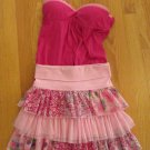ENERGIE & PLACE GIRL'S SIZE 14 CAMISOLE & SKIRT 2 PC SET PINK & FUCHSIA FLORAL TIERED
