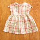 GAP GIRL'S SIZE 3-6 mo. DRESS & PANTIES PINK & MINT PLAID SHIRTWAIST EASTER SPRING