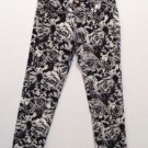 JUSTICE PREMIUM GIRL'S SIZE 10 ? JEANS BLACK & WHITE FLORAL SUPER SKINNY STRETCH DENIM SIMPLY LOW