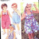 SIMPLICITY 8452 GIRL'S SIZE A (1-4 ) BABY CHILD ROMPER DRESS VEST HAT SEWING PATTERN NEW UNCUT