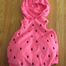 CARTER'S GIRL'S SIZE 18 mo. WATERMELON COSTUME PINK HOOD