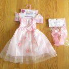 PRINCESS EXPRESSIONS GIRL'S SIZE   -  DRESS & SHOES PINK SMOCKED  NETTING NEW